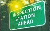 inspection station ahead